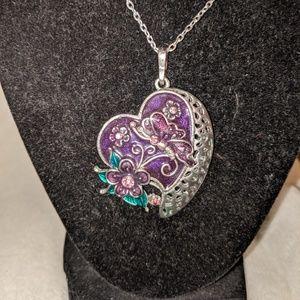 Jewelry - Butterfly Heart Pendant Necklace